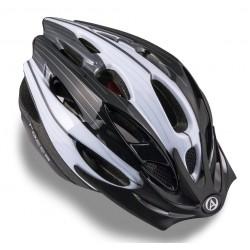 Шлем подростковый Author Rocca Blk, размер S, черный с белым 8-9001309