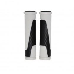 Грипсы Horst, 130мм, резиновый, черно-белые 00-170469