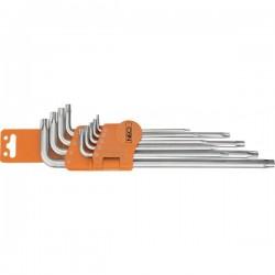 Ключи Neo, Torx с отверстием TS10-TS50, 9 шт 09-520