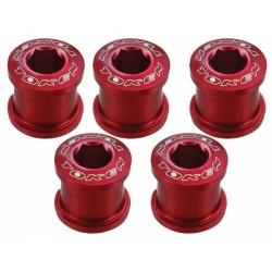 Бонки Token, M8x8.5 мм, алюминиевые, 5 шт. красные AL-K083-red