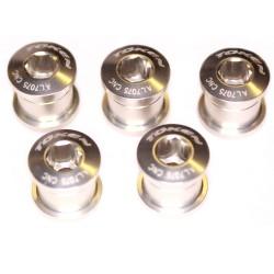 Бонки Token, M8x8.5 мм, алюминиевые, 5 шт. серебристые AL-K083-silver