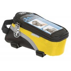 Сумка-чехол для смартфона M-Wave, на раму, влагозащитный, черно-желтый 5-122556