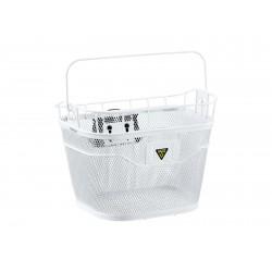 Корзина на руль быстросъемная Topeak Basket Front, белая, с ручкой TB2011-W