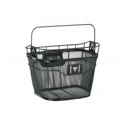 Корзина на руль быстросъемная Topeak Basket Front, черная, с ручкой TB2011-B