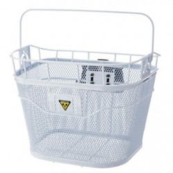 Корзина на руль быстросъемная Topeak Basket, белая, с ручкой TB2001-W