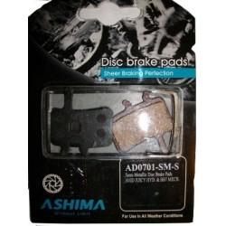 Тормозные колодки Ashima для дисковых тормозов Avid Juicy, BB7, с пружиной, semi-metal AD0701-SM-S