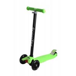 Самокат детский SunColor, светящиеся колеса, алюминий-пластик, зеленый 00-170070-1
