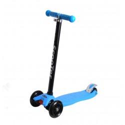 Самокат детский SunColor, светящиеся колеса, алюминий-пластик, голубой 00-170072-1