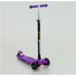 Самокат детский SunColor, светящиеся колеса, алюминий-пластик, фиолетовый 00-170074-1
