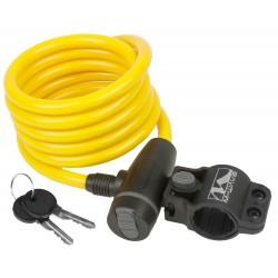 Велозамок M-Wave, 10х1800 мм, с крепежом, желтый 5-233866