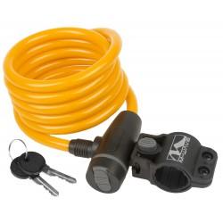 Велозамок M-Wave, 10х1800 мм, с крепежом, оранжевый 5-233867