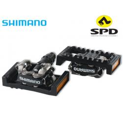 Платформы Shimano SM-PD22, для педалей SPD, пластиковые, с катафотами