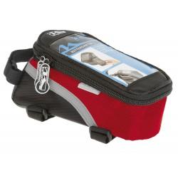 Сумка-чехол для смартфона M-Wave, на раму, влагозащитный, черно-красного 5-122553