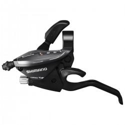 Шифтер/Тормозная ручка Shimano Tourney ST-EF510, левая, 3 скорости, черный, трос