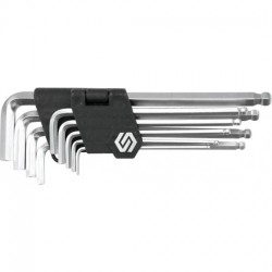 Ключи шестигранные Vorel удлиненные шарообразные, 2-10 мм, 9 шт 56477