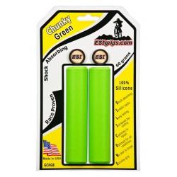 Грипсы ESI Chunky, силиконовые, зеленые