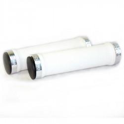 Грипсы Clark's CLO201, 130мм, бело-серебристые 3-446
