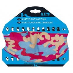 Бандана M-Wave Camouflage, р-р 24-48 см, розово-синяя 5-715189