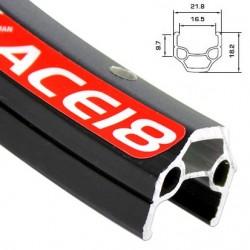 Обод AlexRims ACE18 622x17 мм, двойной, черный, 32 отверстия, пистонированный, F/V 6-142818