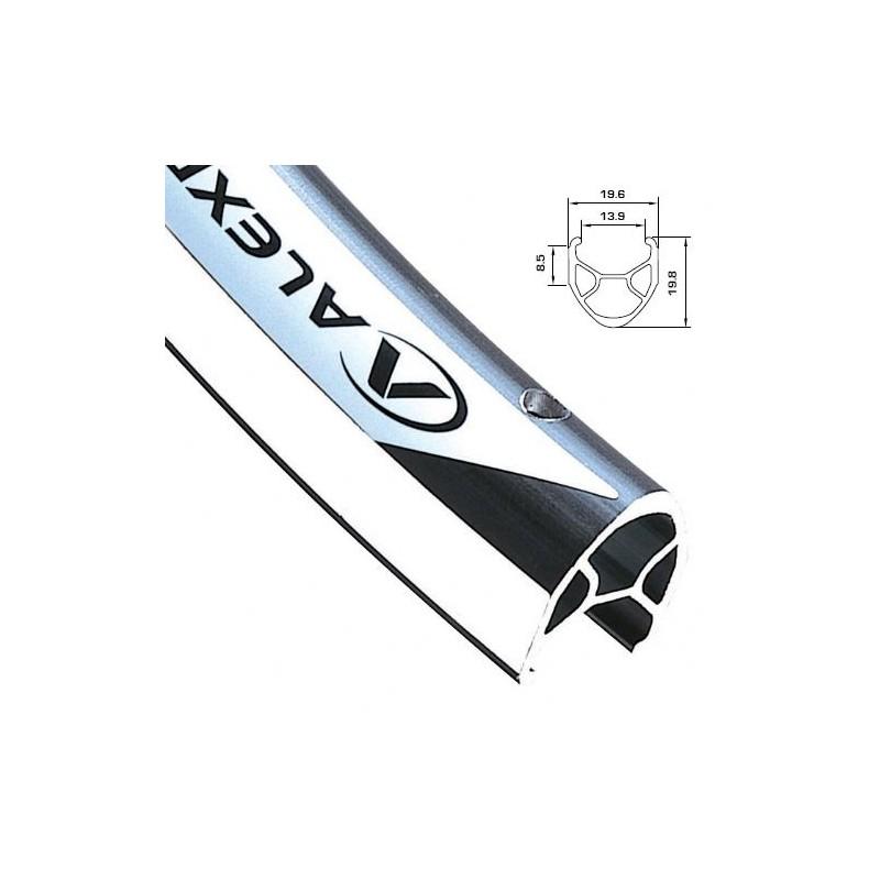 Обод AlexRims R450 622x14 мм, двойной, серебристый, 36 отверстий, F/V R450_36H_silver_622x14