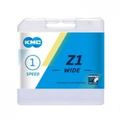 """Цепь KMC Z1-W, 112 звеньев, 1-скростная, с замком, 1/2x1/8"""""""