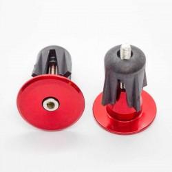 Заглушки руля Sence 24 мм, алюминий, красные PLUG-01_red
