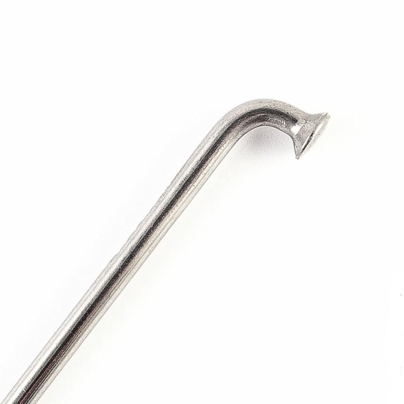 Спица CnSpoke стальная, 256 мм, серебристая, с стальным ниппелем