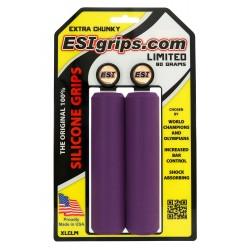 Грипсы ESI Extra Chunky, силиконовые, фиолетовые