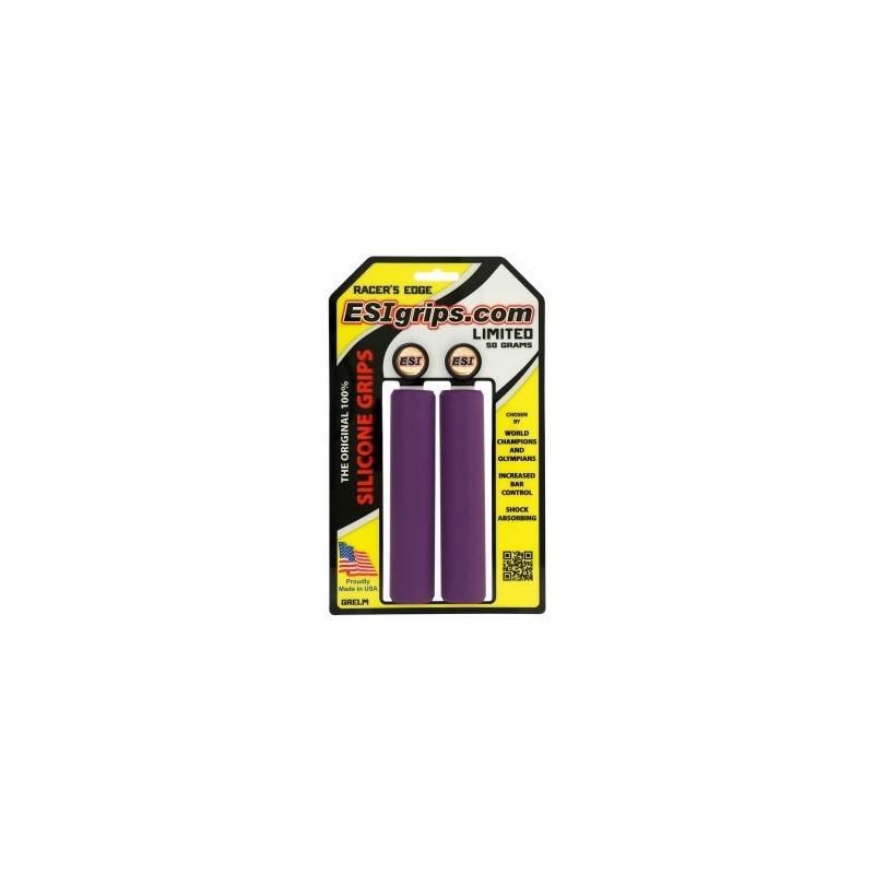 Грипсы ESI Racer Edge, силиконовые, фиолетовые