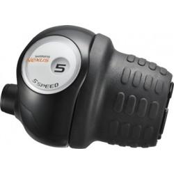 Шифтер Shimano Nexus SL-5S30, 5 скоростей, черный, revo, трос+оплетка ASL5S30L210LL
