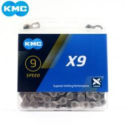 Цепь KMC X9, 9 скоростей, 1/2x11/128, с замком 5-303612