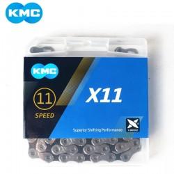 Цепь KMC X11, 11 скоростей, 1/2x11/128, с замком 5-303542