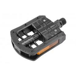 Складные педали Ventura FP-875 пластиковые, черные
