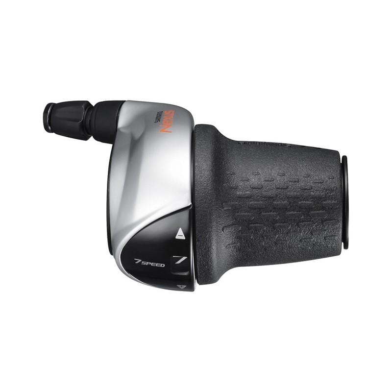 Шифтер Shimano Nexus SL-C3000, 7 скоростей, серебристый, трос+оплетка 2100 мм ESLC30007S210LA3R