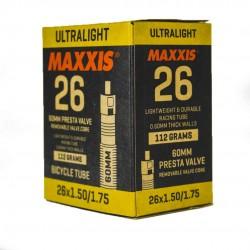 Камера Maxxis Ultralight 26x1.50/1.75 Presta 60 мм EIB60059100