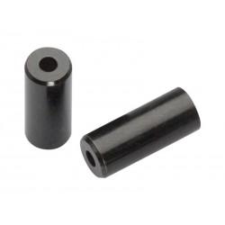 Концевик для оплетки троса Jagwire End Cap Open, 4 мм, латунь, черный BOT115-4H