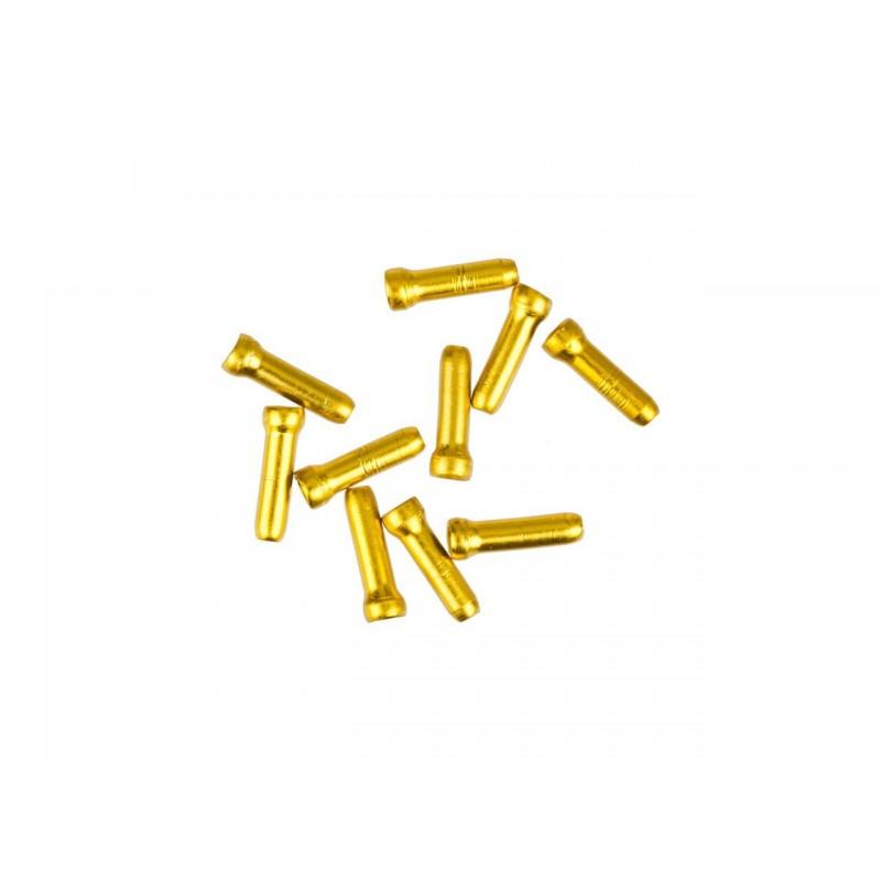 Концевик для троса тормоза Jagwire, алюминий, золотой
