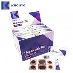 Набор для ремонта Kronyo, заплатки, наждак и клей 6-170223