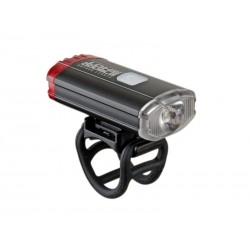 Фонарь передний Author A-DoubleShot 250/12 lm USB с задним красным светом