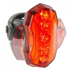 Фонарь задний M-Wave 5 диодов, пластик, красный