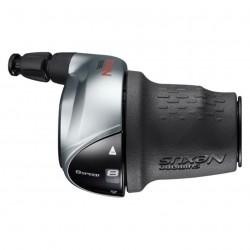 Шифтер Shimano Nexus SL-C6000, 8 скоростей, серебристый, трос+оплетка 2100 мм ESLC60008S210LA3