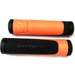 Грипсы Author AGR-600-D3, 130 мм, черный/оранжевый