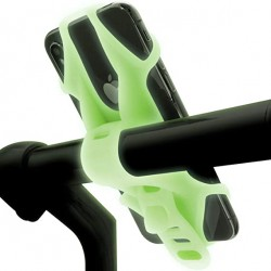 """Велосипедный держатель для смартфона 4""""-6.5"""" Bone Bike Tie 2, люминесцентный зеленый"""