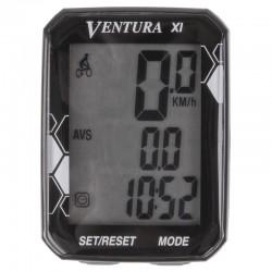 Велокомпьютер беспроводной Ventura XI, 11 функций, черный