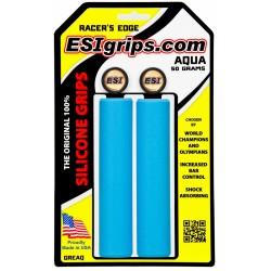 Грипсы ESI Racer Edge, силиконовые, голубой GREAQ