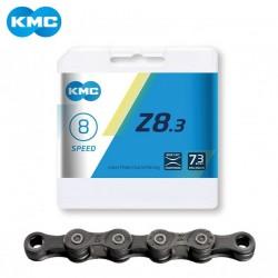 Цепь KMC Z8.3, 6/7/8 скор, с замком, серая 5-303705