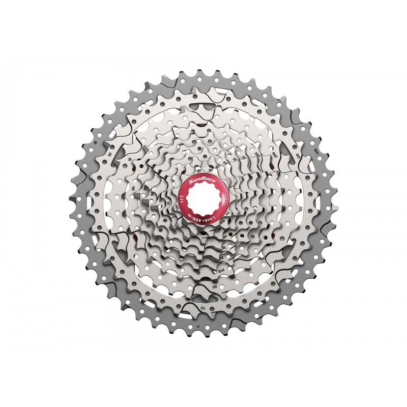 Кассета SunRace MX3, 10 скоростей, 11-42T, серебристая