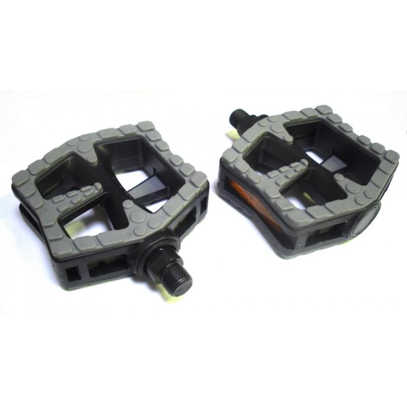 Педали Wellgo LU-990 пластиковые, черно-серые 6-170990