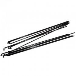 Спицы Richman, нержавеющая сталь, 258 мм, 14G, черные 11-6959