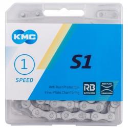 """Цепь KMC S1 Wide RB, 1 скорость, 1/2""""х1/8"""""""